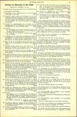 Handelingen van de Raad 1923-05-14