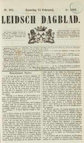 Leidsch Dagblad 1863-02-14