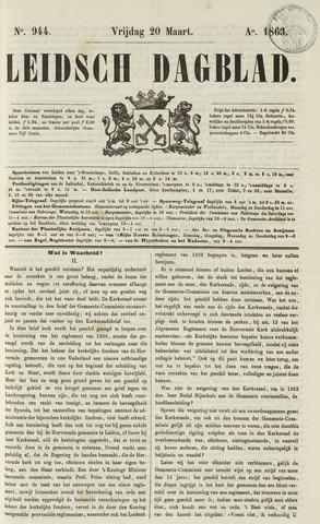 Leidsch Dagblad 1863-03-20