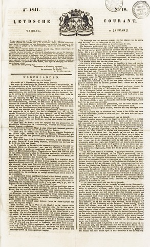 Leydse Courant 1841-01-22