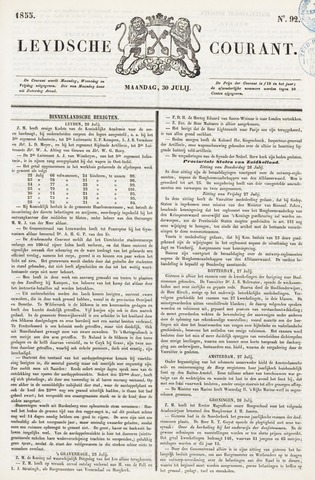 Leydse Courant 1855-07-30