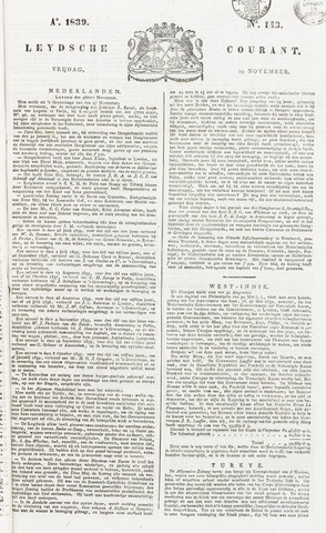 Leydse Courant 1839-11-29