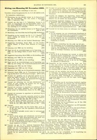 Handelingen van de Raad 1925-11-30