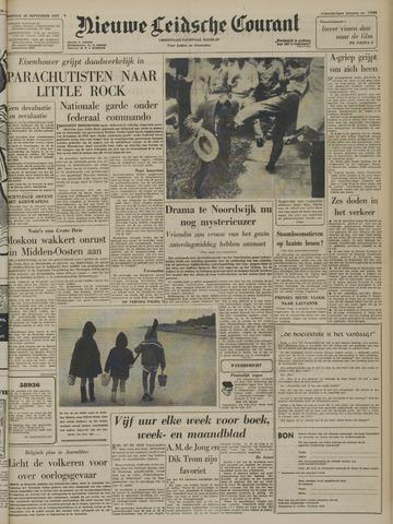Nieuwe Leidsche Courant 1957-09-25