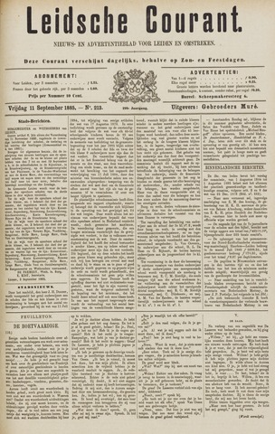 Leydse Courant 1885-09-11