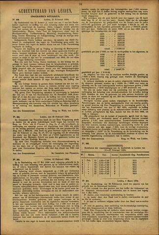Handelingen van de Raad 1894-02-21