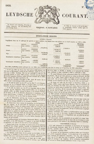 Leydse Courant 1852-01-09