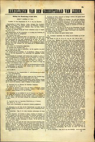 Handelingen van de Raad 1874-07-09