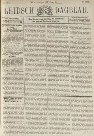 Leidsch Dagblad 1892-04-27