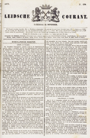 Leydse Courant 1873-11-22