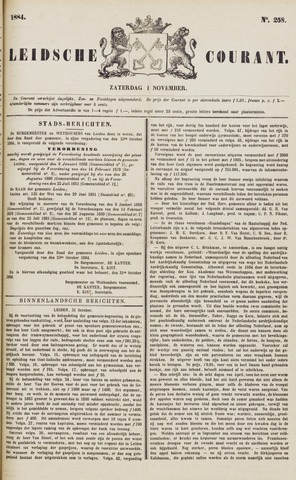 Leydse Courant 1884-11-01