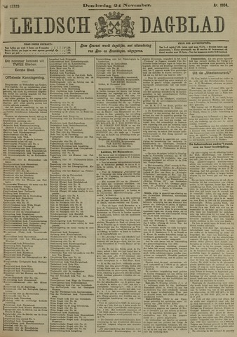 Leidsch Dagblad 1904-11-24
