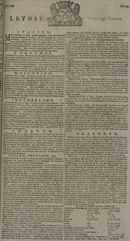 Leydse Courant 1729-06-22