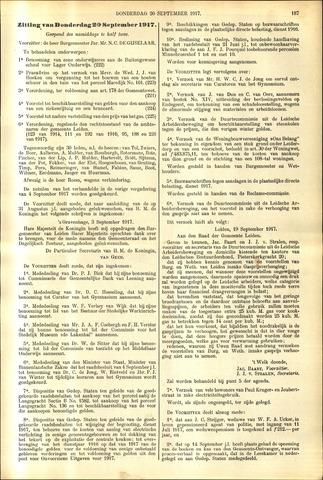 Handelingen van de Raad 1917-09-20