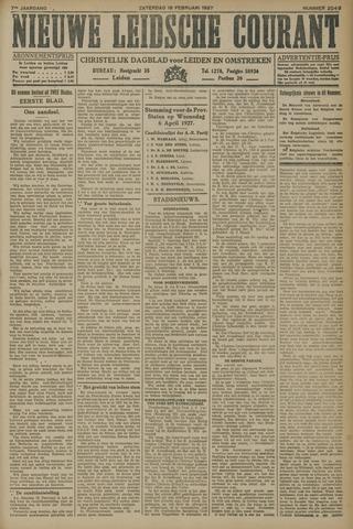 Nieuwe Leidsche Courant 1927-02-19