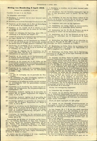 Handelingen van de Raad 1919-04-03