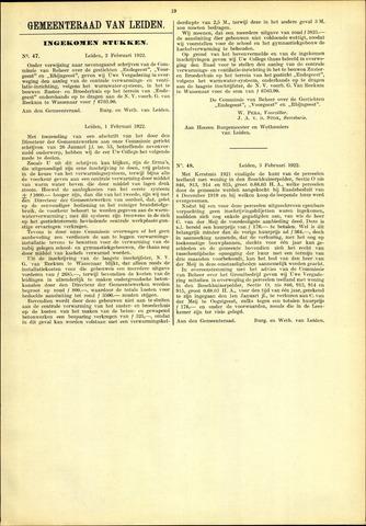 Handelingen van de Raad 1922-02-02