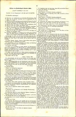 Handelingen van de Raad 1885-10-08