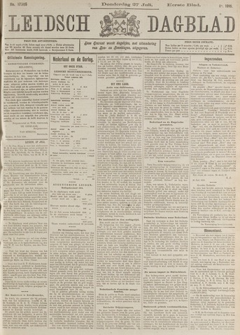 Leidsch Dagblad 1916-07-27