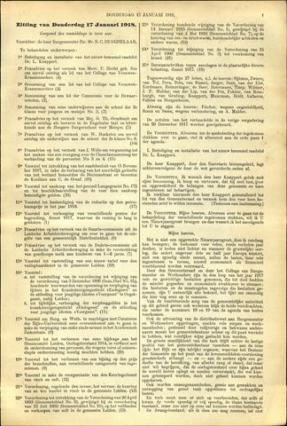 Handelingen van de Raad 1918-01-17