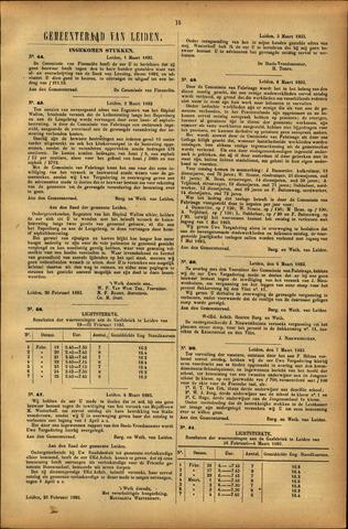 Handelingen van de Raad 1893-03-01