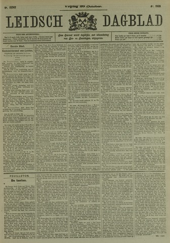Leidsch Dagblad 1909-10-29