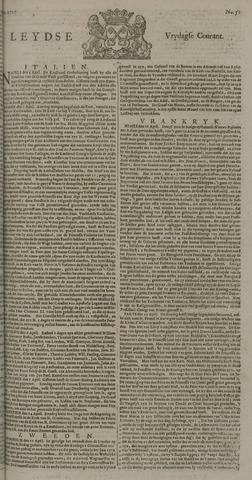 Leydse Courant 1725-04-27