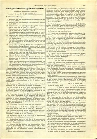 Handelingen van de Raad 1907-10-10