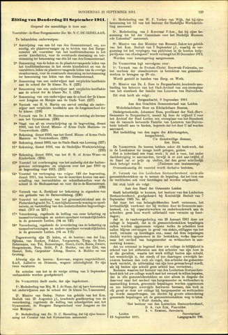 Handelingen van de Raad 1911-09-21