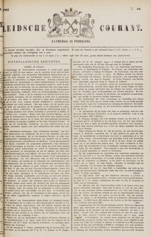 Leydse Courant 1884-02-23