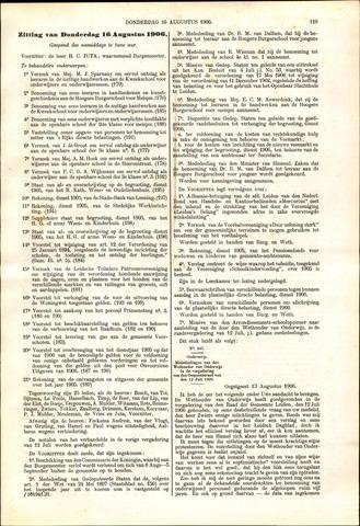 Handelingen van de Raad 1906-08-16