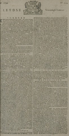 Leydse Courant 1734-09-22