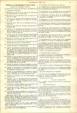 Handelingen van de Raad 1915-04-08