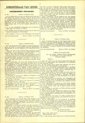 Handelingen van de Raad 1927-02-14
