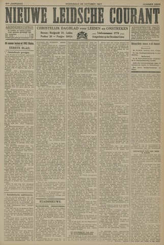 Nieuwe Leidsche Courant 1927-10-26