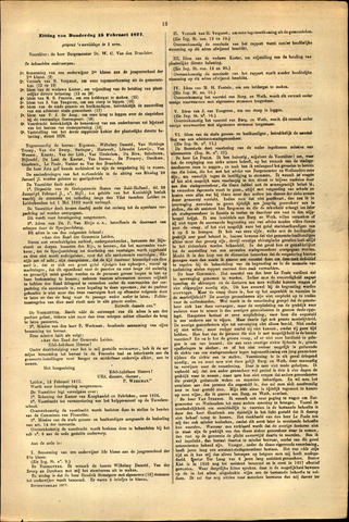 Handelingen van de Raad 1877-02-15
