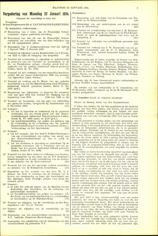Handelingen van de Raad 1934-01-22