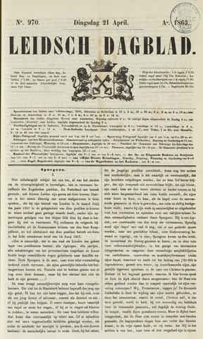 Leidsch Dagblad 1863-04-21