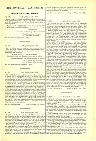 Handelingen van de Raad 1926-09-13