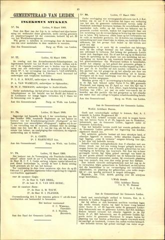 Handelingen van de Raad 1909-03-09