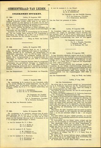 Handelingen van de Raad 1920-08-19