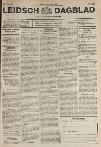 Leidsch Dagblad 1933-06-27