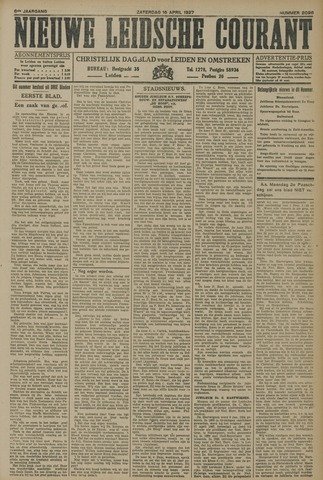 Nieuwe Leidsche Courant 1927-04-16