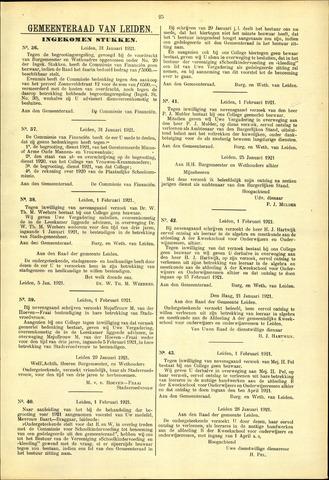 Handelingen van de Raad 1921-01-31