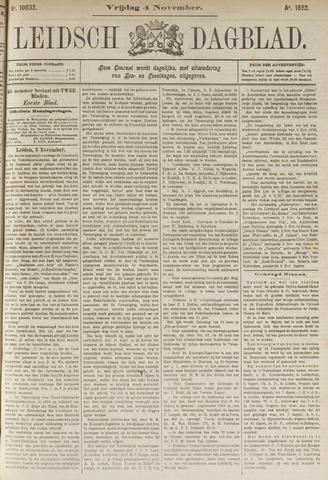 Leidsch Dagblad 1892-11-04