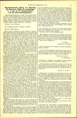 Handelingen van de Raad 1929-02-12