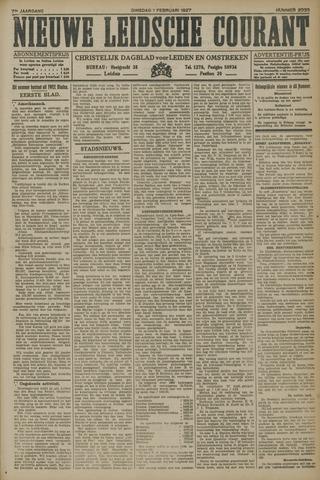 Nieuwe Leidsche Courant 1927-02-01
