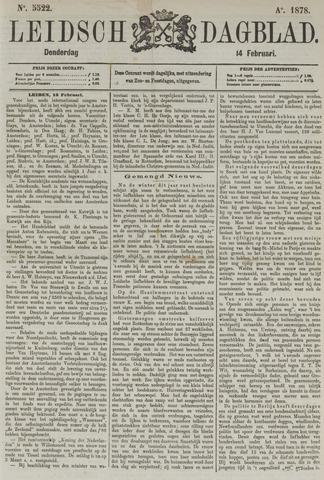 Leidsch Dagblad 1878-02-14