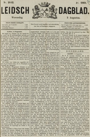 Leidsch Dagblad 1868-08-05