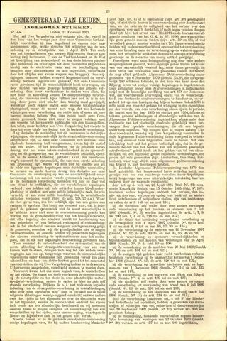 Handelingen van de Raad 1912-02-21